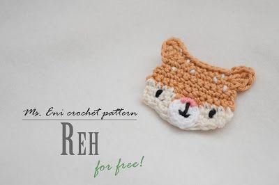 Applikation Reh Häkeln Anleitungen Pinterest Crochet
