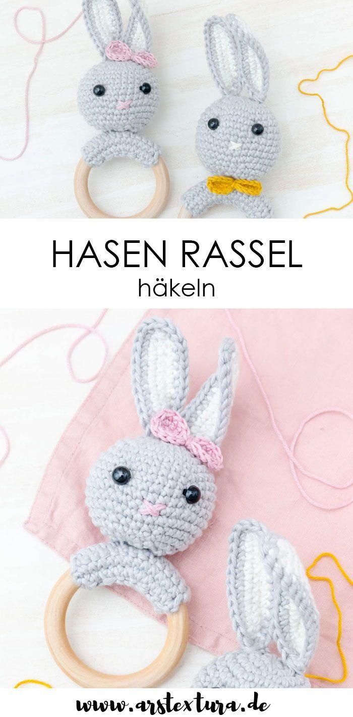 Photo of Hasen Rassel häkeln – ein tolles DIY-Geschenk zur Geburt | ars textura – DIY-Blog