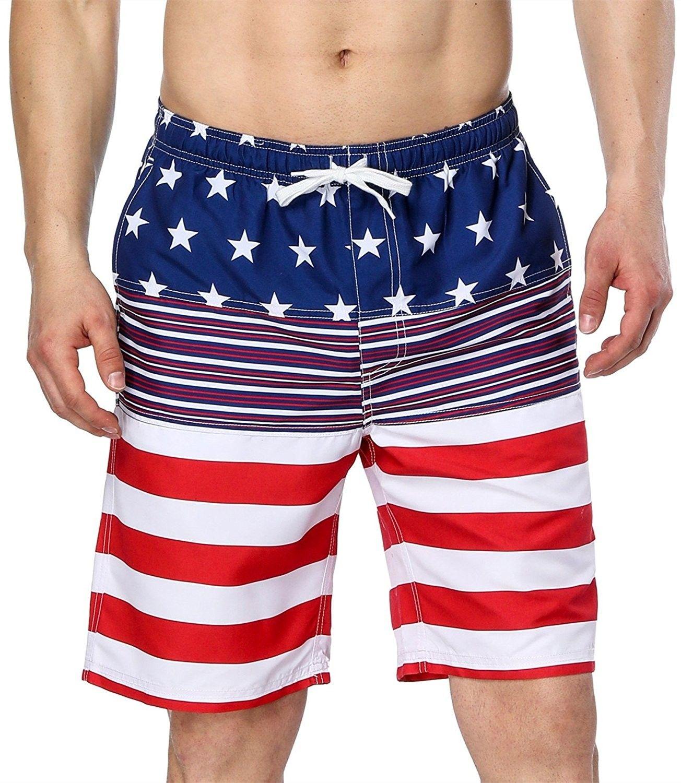 Men S Usa American Flag Swim Trunks Quick Dry Beach Boardshort American Flag1 C918c0z764r Mens Outfits Mens Clothing Styles Swim Trunks
