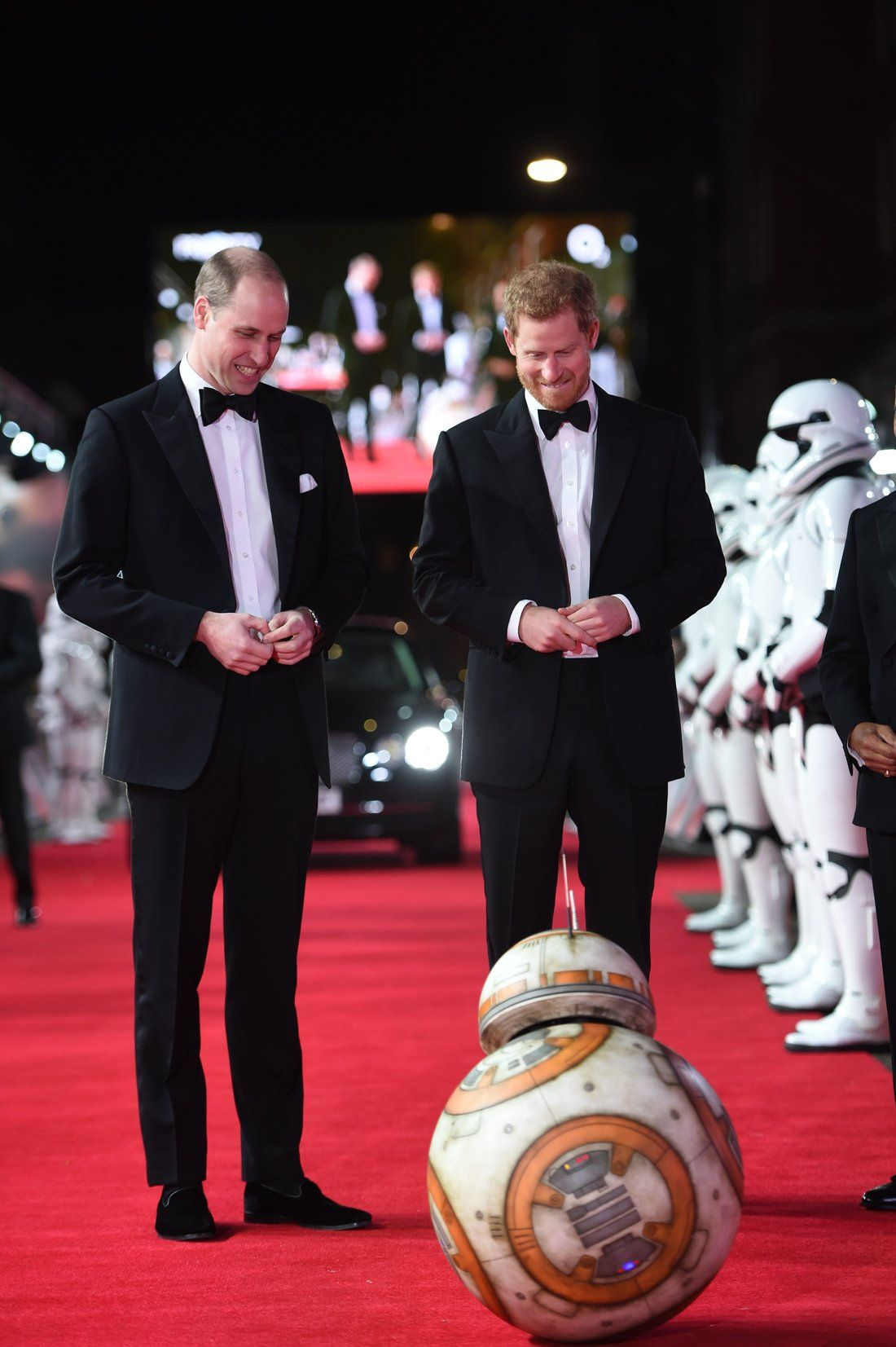 Prince William And Prince Harry Attend Star Wars London Premiere People Com