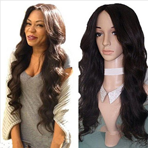 Amazon Synthetic Lace Front Wig Heat Resistant Fiber Loose Wave For Black Women Natural 16 Beauty
