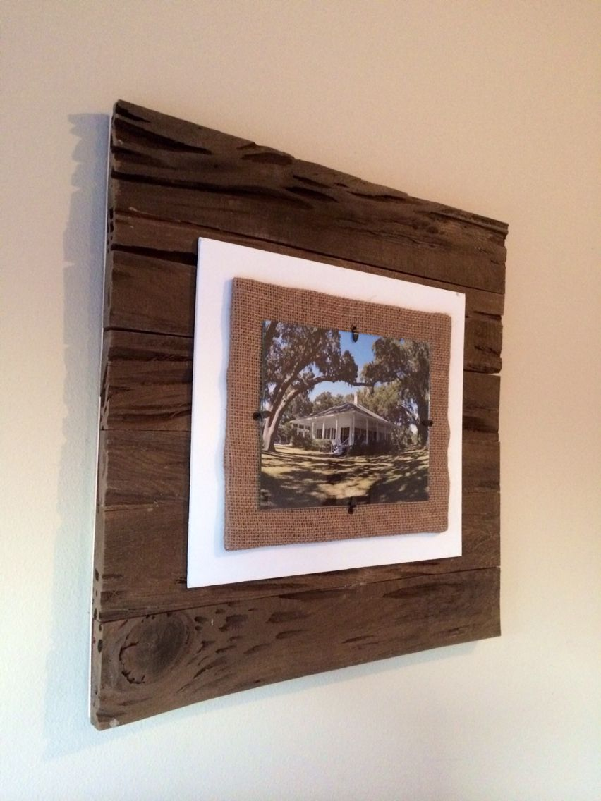 Beautiful 8x10 Pecky Cypress Frame With Burlap Available On Etsy