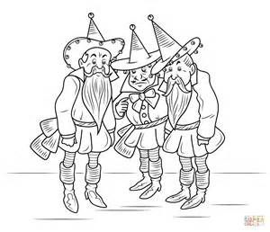 Wizard Of Oz Munchkins Coloring Page Free Printable Pages Sketch