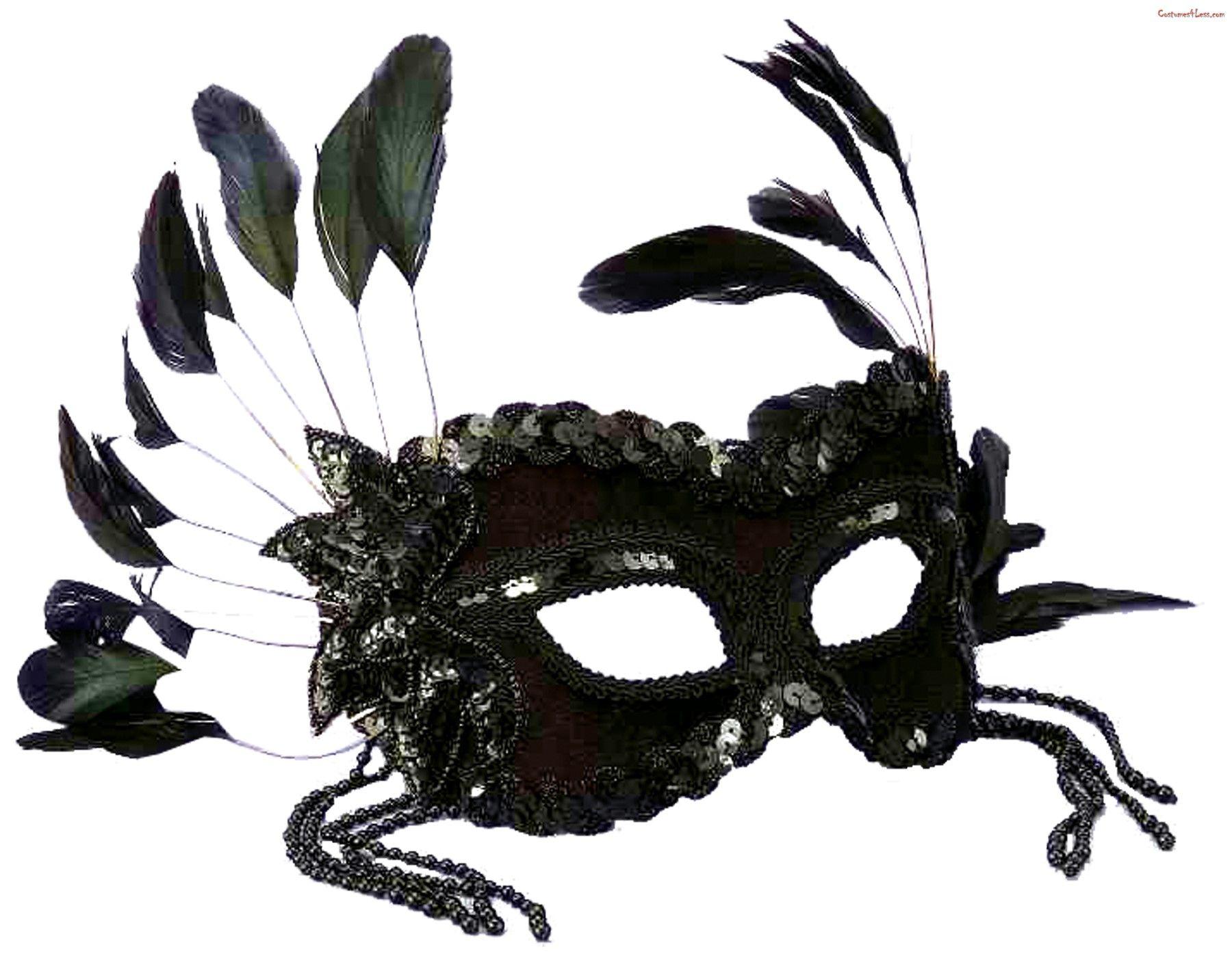 Half Face Masquerade Mask Venetian Sequin Veil Mask Party Fancy Dress