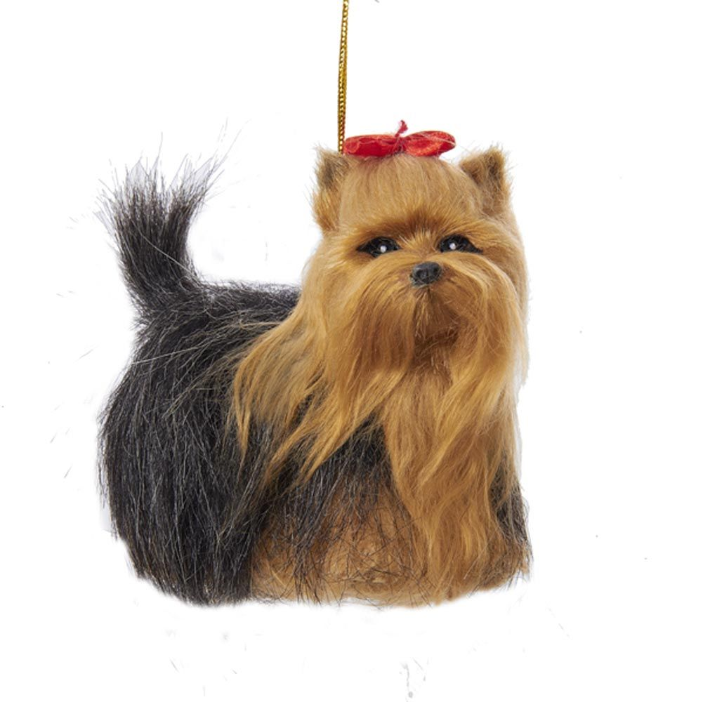 Yorkie Plush Ornament 4 Inches Dog Christmas Ornaments Christmas Dog Yorkshire Terrier