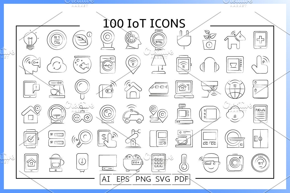 Internet Of Things Iot Icons In 2020 Iot Icon Icon Iot