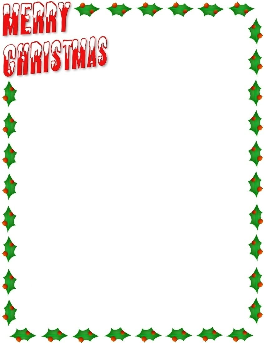 christmas borders clipart 10874 [ 850 x 1100 Pixel ]