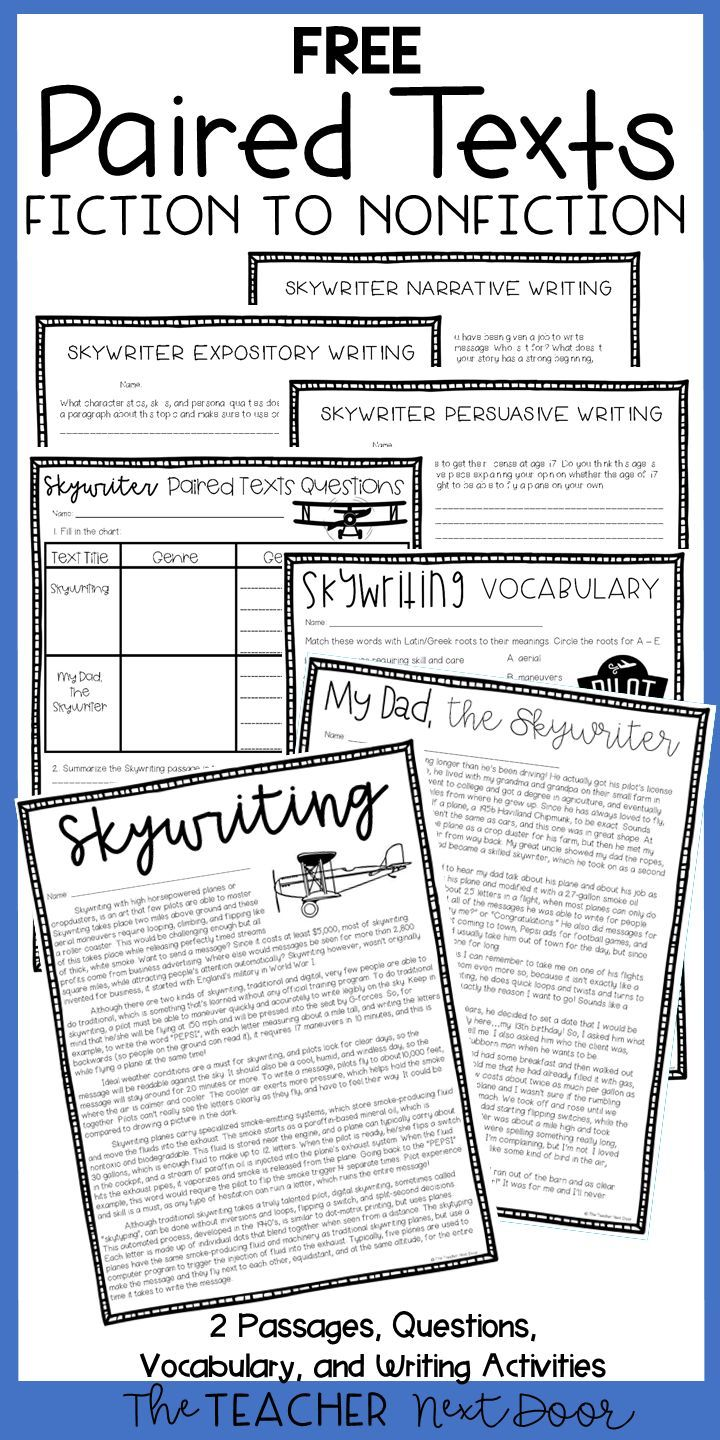 Free Paired Texts Fiction To Nonfiction Sample Reading Comprehension Worksheets 6th Grade Reading Reading Classroom [ 1440 x 720 Pixel ]