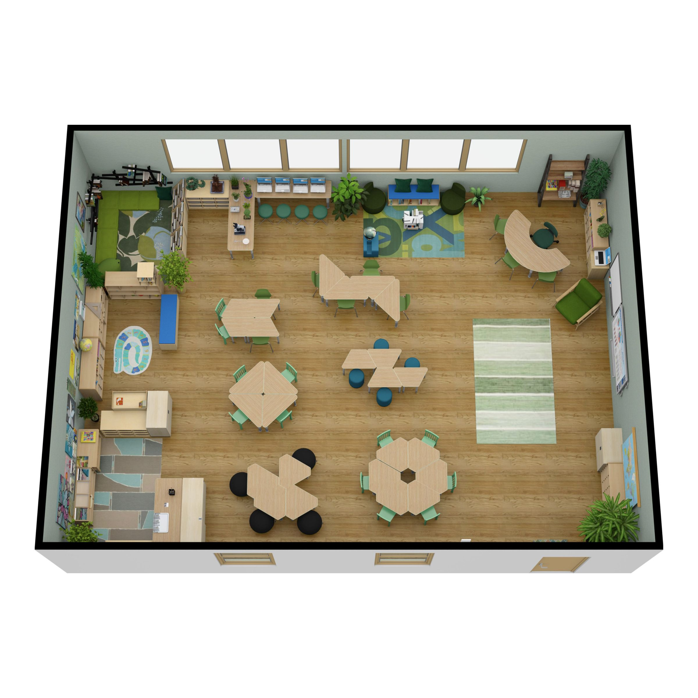 Kids Classroom Made On Floorplanner Com Create Floor Plan Floor Plans Interior Design Software