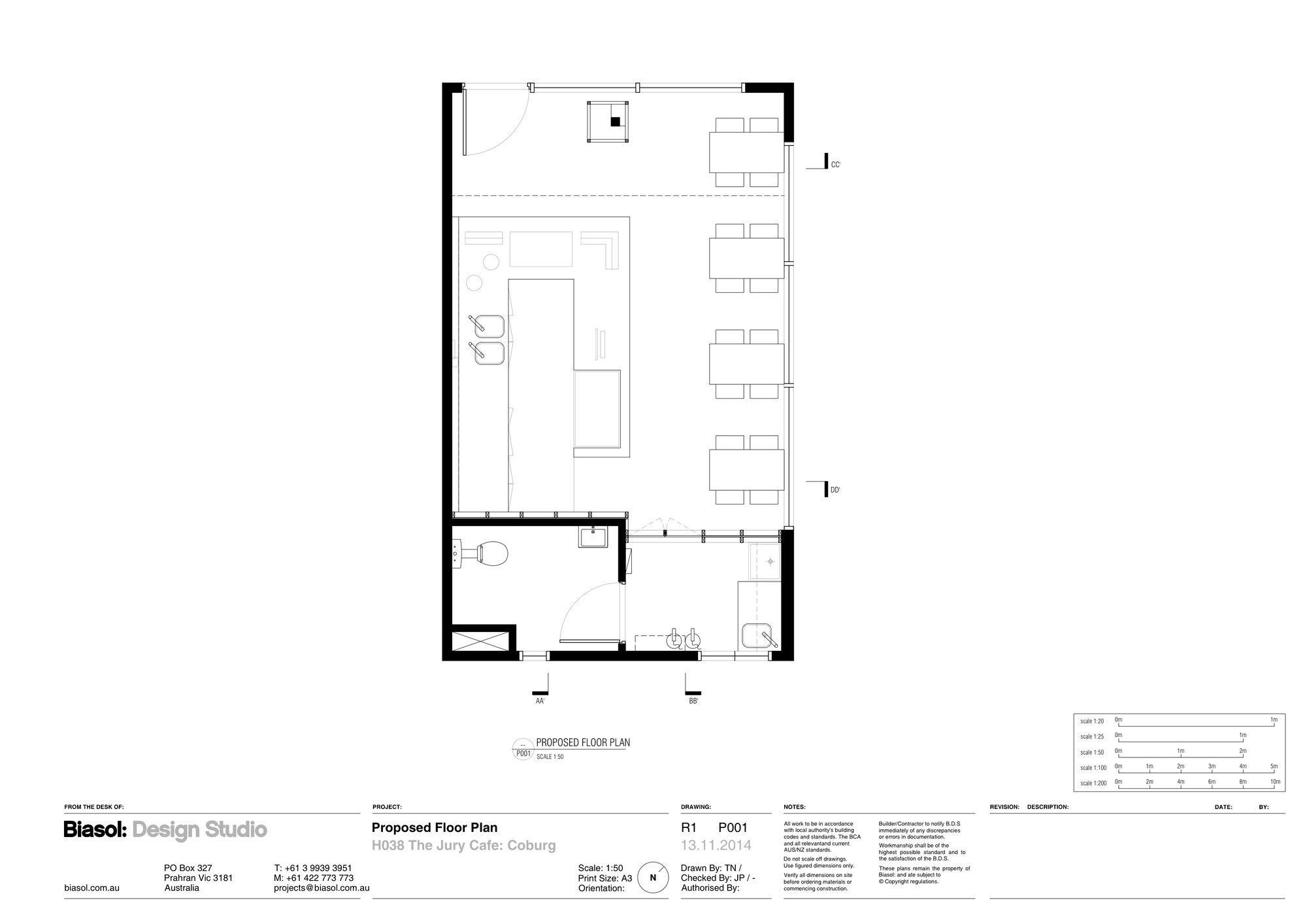 Jury Biasol Design Studio Design Studio Cafe Floor Plan Design