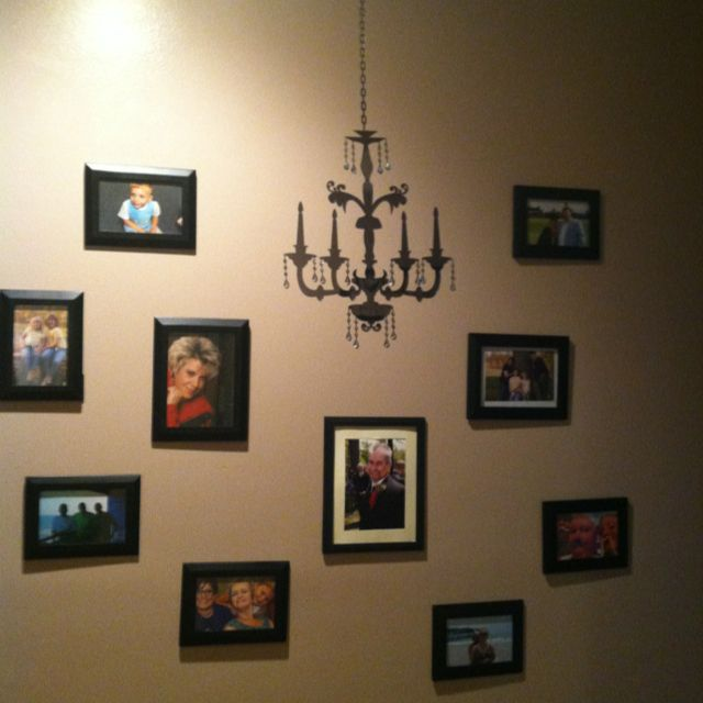my hall wall chandy from ross frames from dollar general pics my family - Dollar General Picture Frames