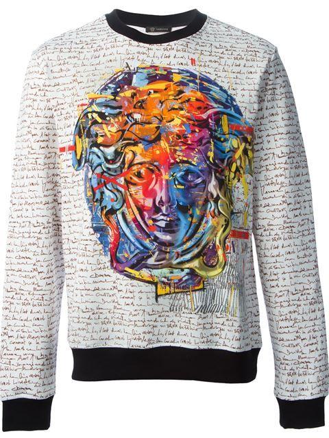 Versace Medusa Print Sweatshirt - Elite - Farfetch.com Moda Masculina, Ropa  De Moda 1093203374