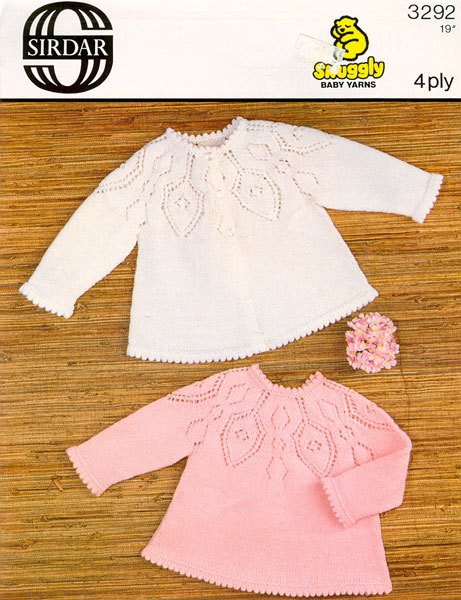 bb8f961a6 Vintage Knit Baby Matinee Coat and Angel Top instant download ...