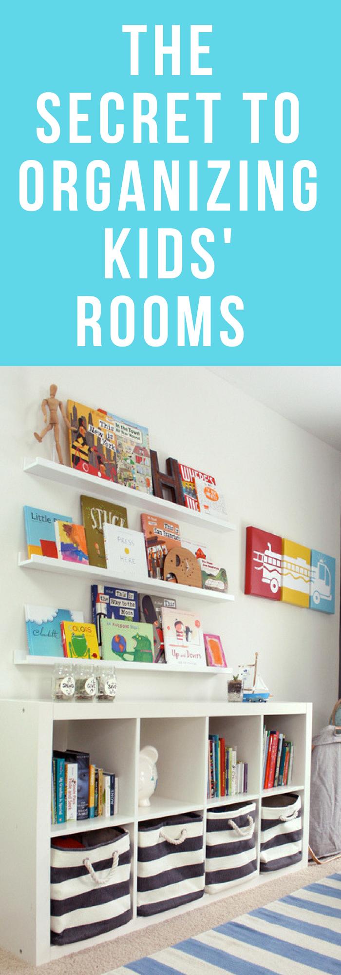 The Secret to Kids Room Organization images
