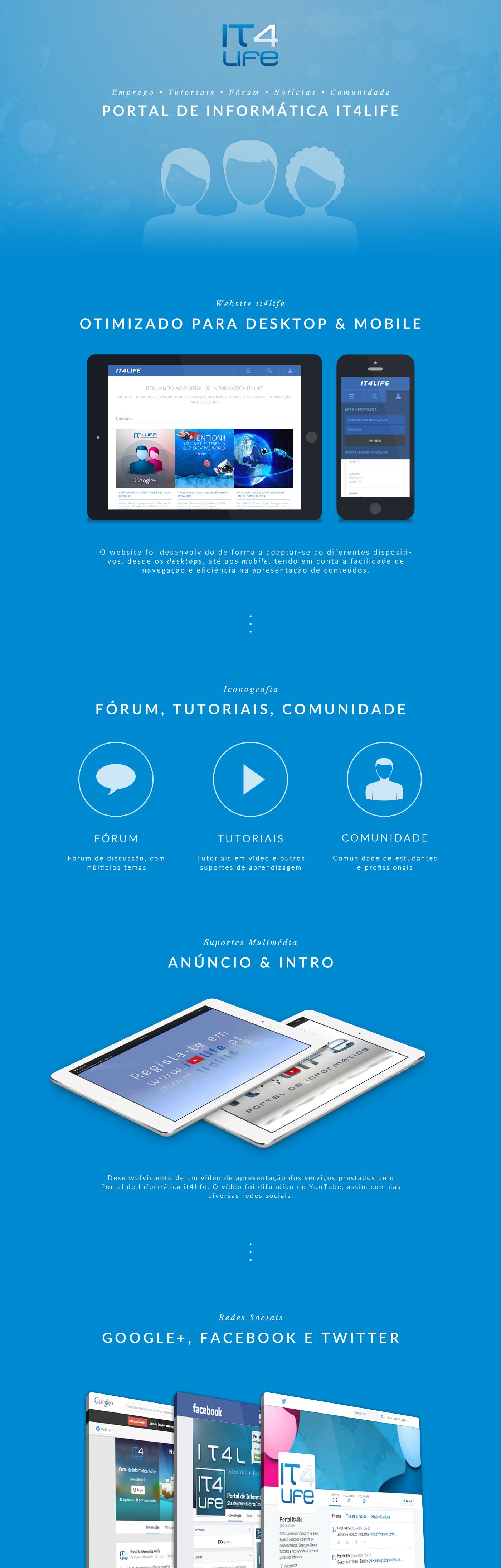 it4life é um Portal para estudantes e profissionais de Informática