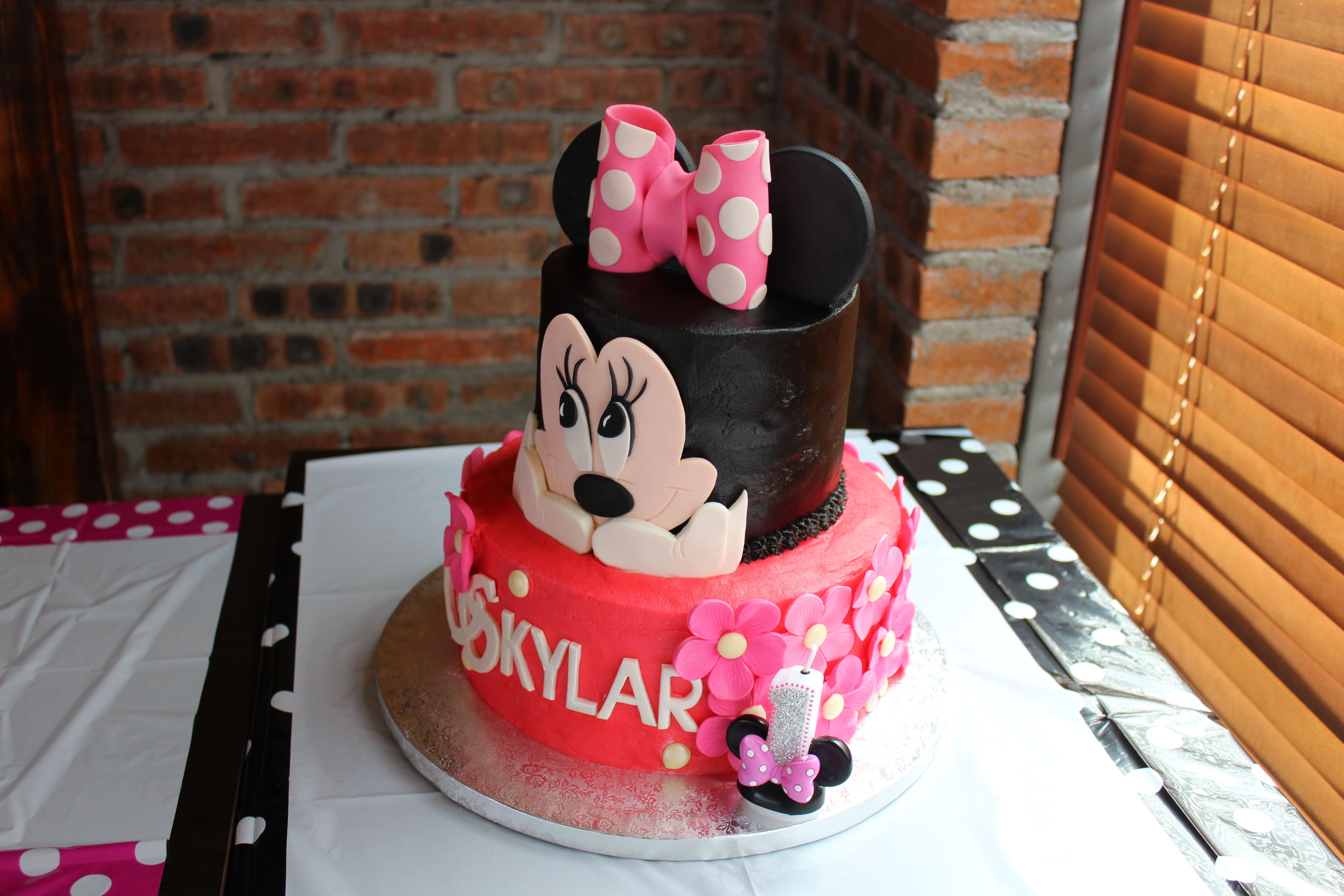 Minnie Mouse Butter Cream Cake Cakes For Kiddies Pinterest
