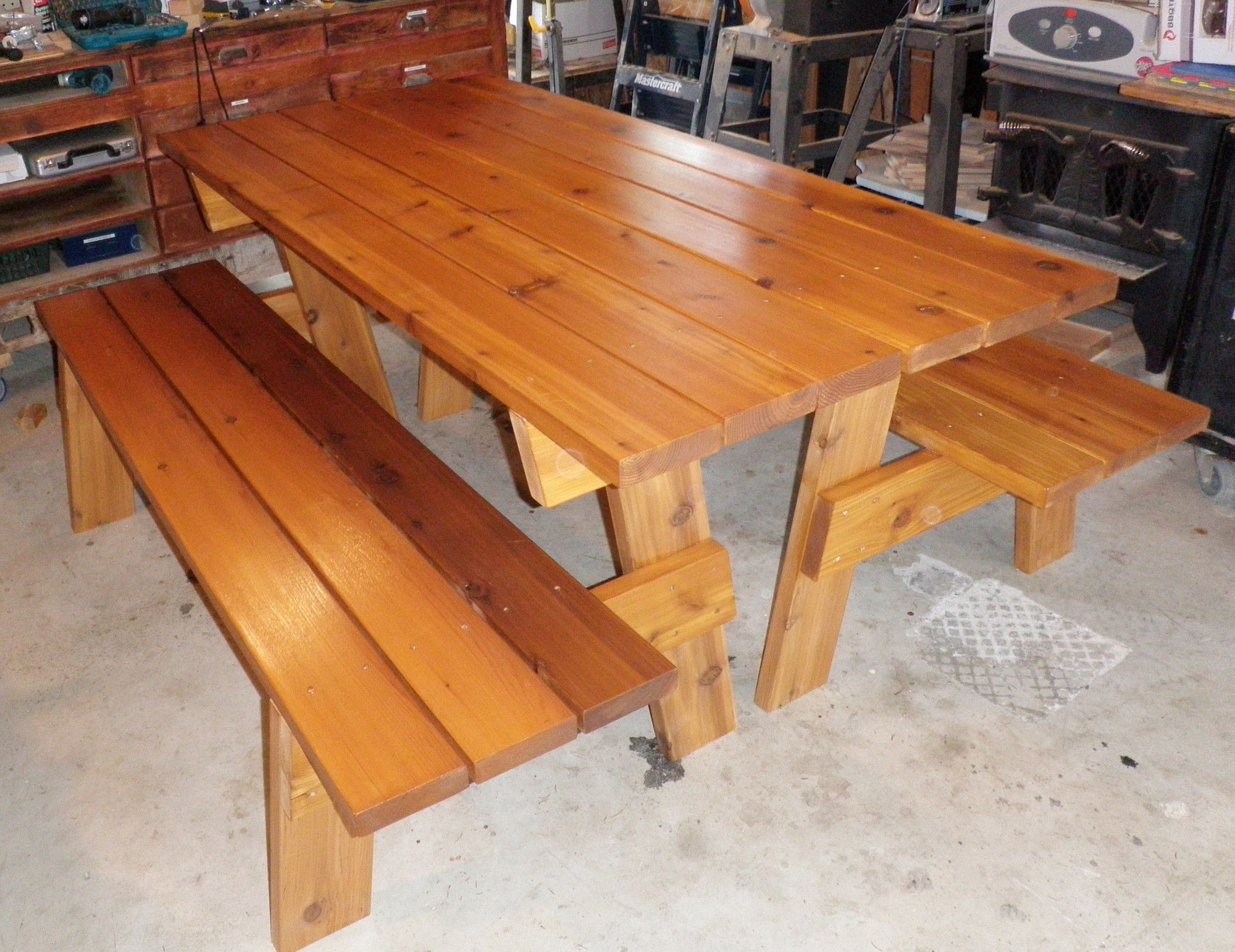 Convertible picnic benches do it yourself home projects from ana convertible picnic benches do it yourself home projects from ana white solutioingenieria Image collections