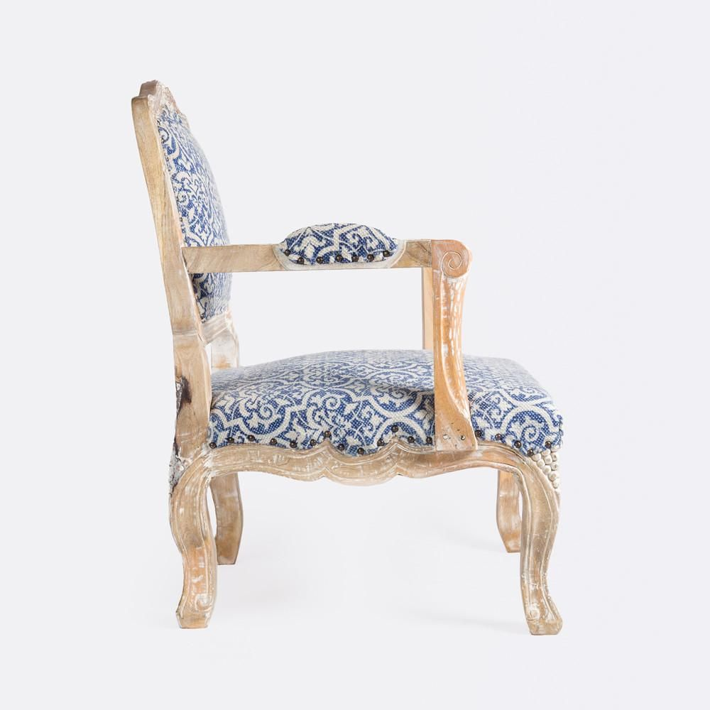 Ginny Armchair Side View Armchair Chair French Rococo