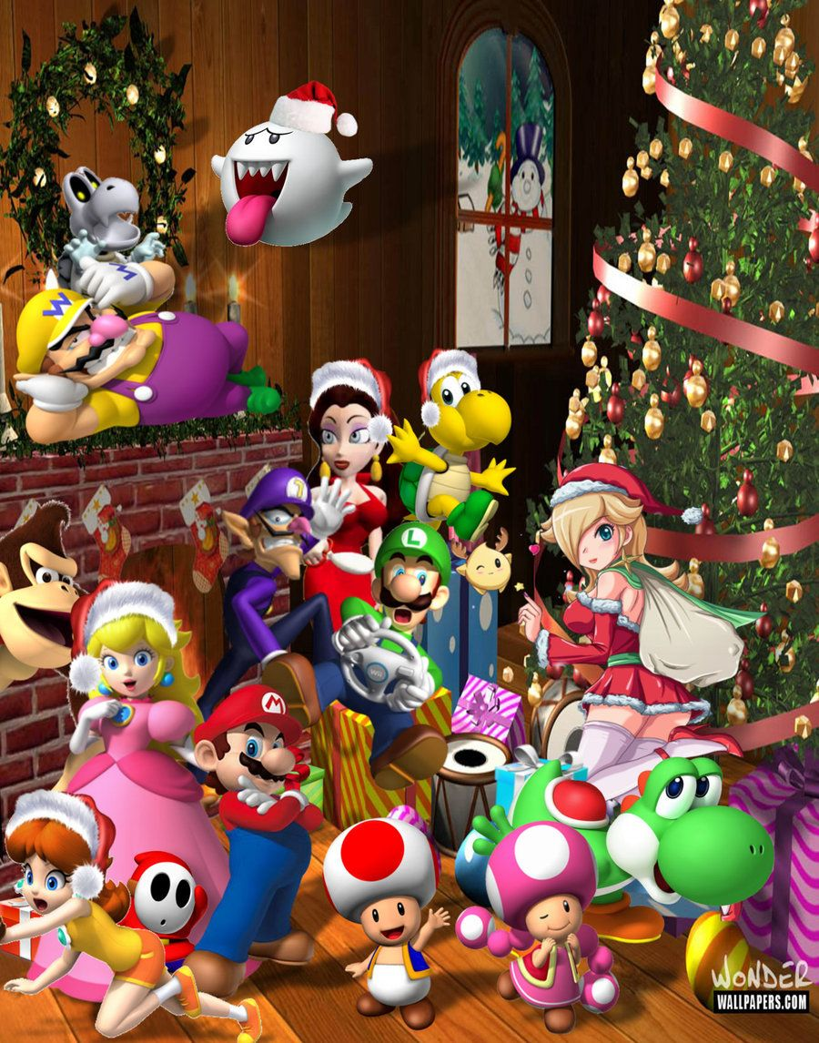 The Super Mario Christmas Party By 1kamz On Deviantart Disney Quiz Toy Story 3 Toy Story Movie
