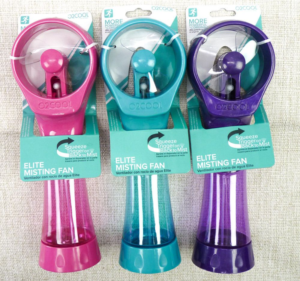 O2COOL Deluxe Elite Water Misting Fans Handheld NEW Lot of