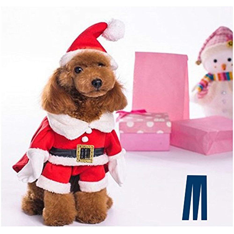 Mikayoo Christmas Costumes For Small Dog Medium Dog Or Cat Santa