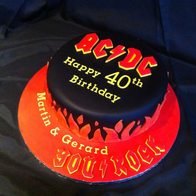 Heavy Metal ACDC Band Cake For A Fan's 40th. For Tickets