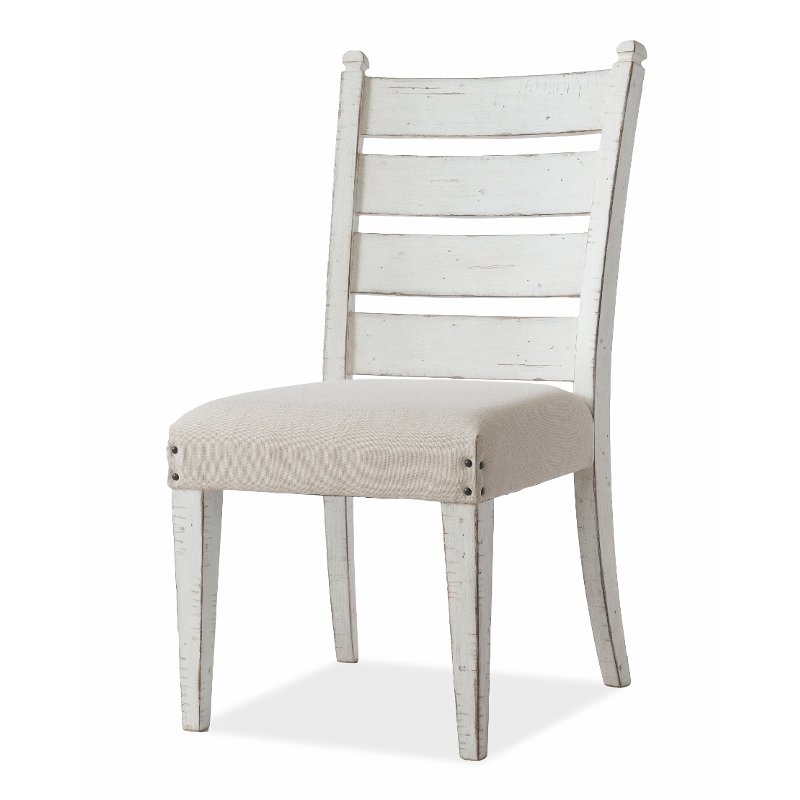Rustic Chalk White Upholstered Dining Chair Coming Home Rc Willey Furniture Store Side Chairs Dining Upholstered Dining Chairs Dining Chairs