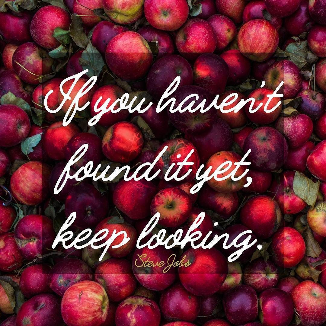 If You Havent Found It Yet Keep Looking. Steve Jobs #qotd #365project  241/365 #quoteoftheday #quotes #varnishedtruths #lifequotes  #inspirationalquotes ...