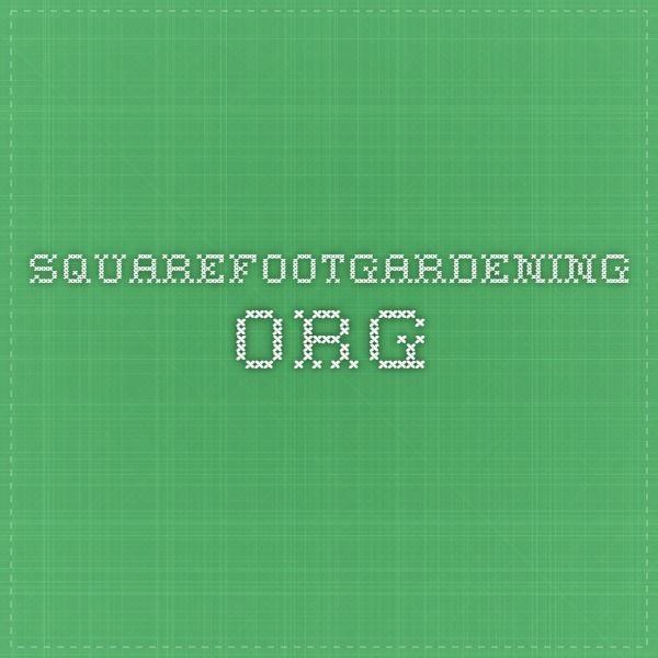 squarefootgardening.org