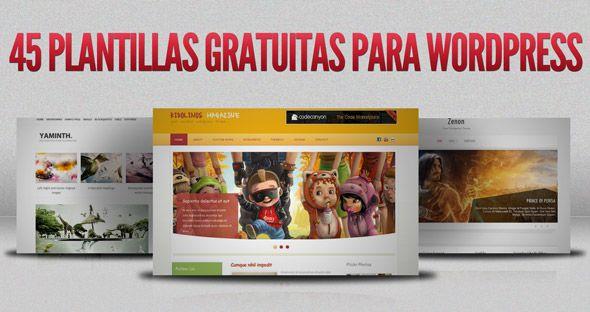 45 plantillas gratuitas para Wordpress del año 2012