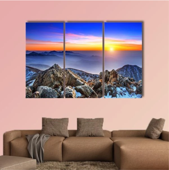 Landscape At Sunset In South Korea Multi Panel Canvas Wall Art In 2020 Wall Art Canvas Wall Art Art