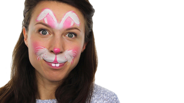 Easy Easter Bunny Face Paint Tutorial Snazaroo Bunny Face Paint Easter Face Paint Face Painting