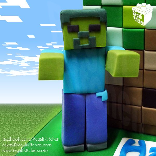 minecraft zombie cake topper Google Search Minecrafters