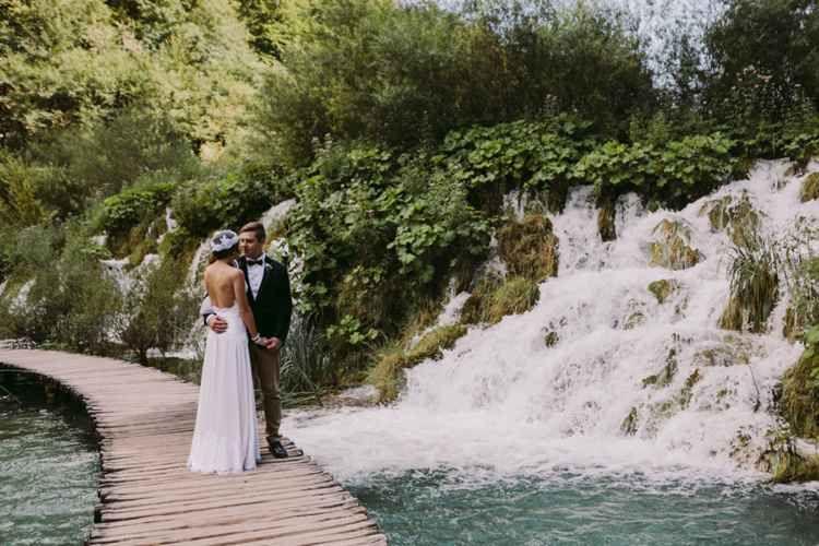 Beautiful Wedding With Astonishing Views Of Waterfalls Karlovac Croatia Wedding Package From Antropoti Waterfall Wedding Croatia Wedding Beautiful Weddings