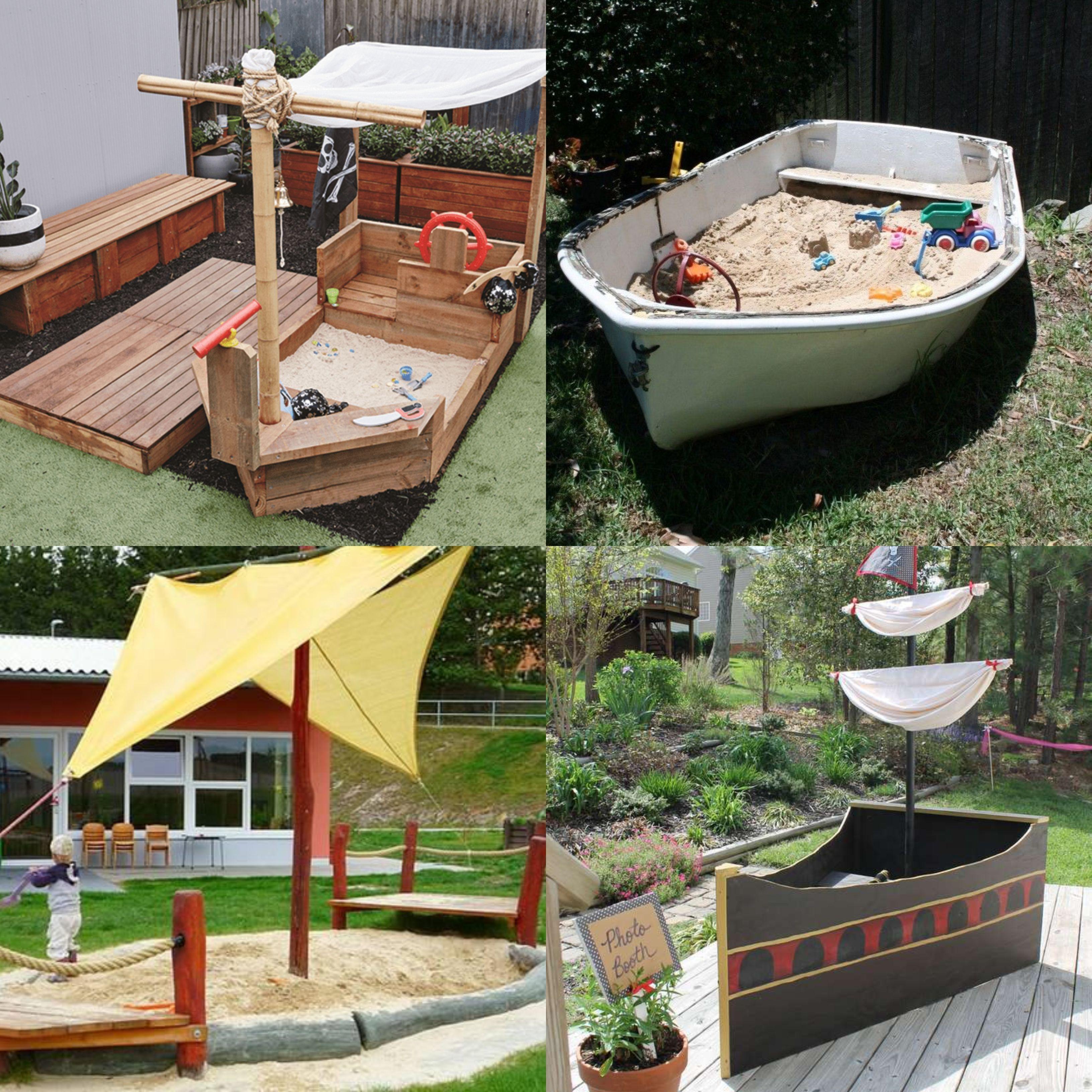 Garten Spielplatz Einfach Anleitung Altes Boot Sandkasten Piratenschiff Selberbauen Diy Sandbox Pi Sandkasten Piratenschiff Garten Spielplatz Spielplatz