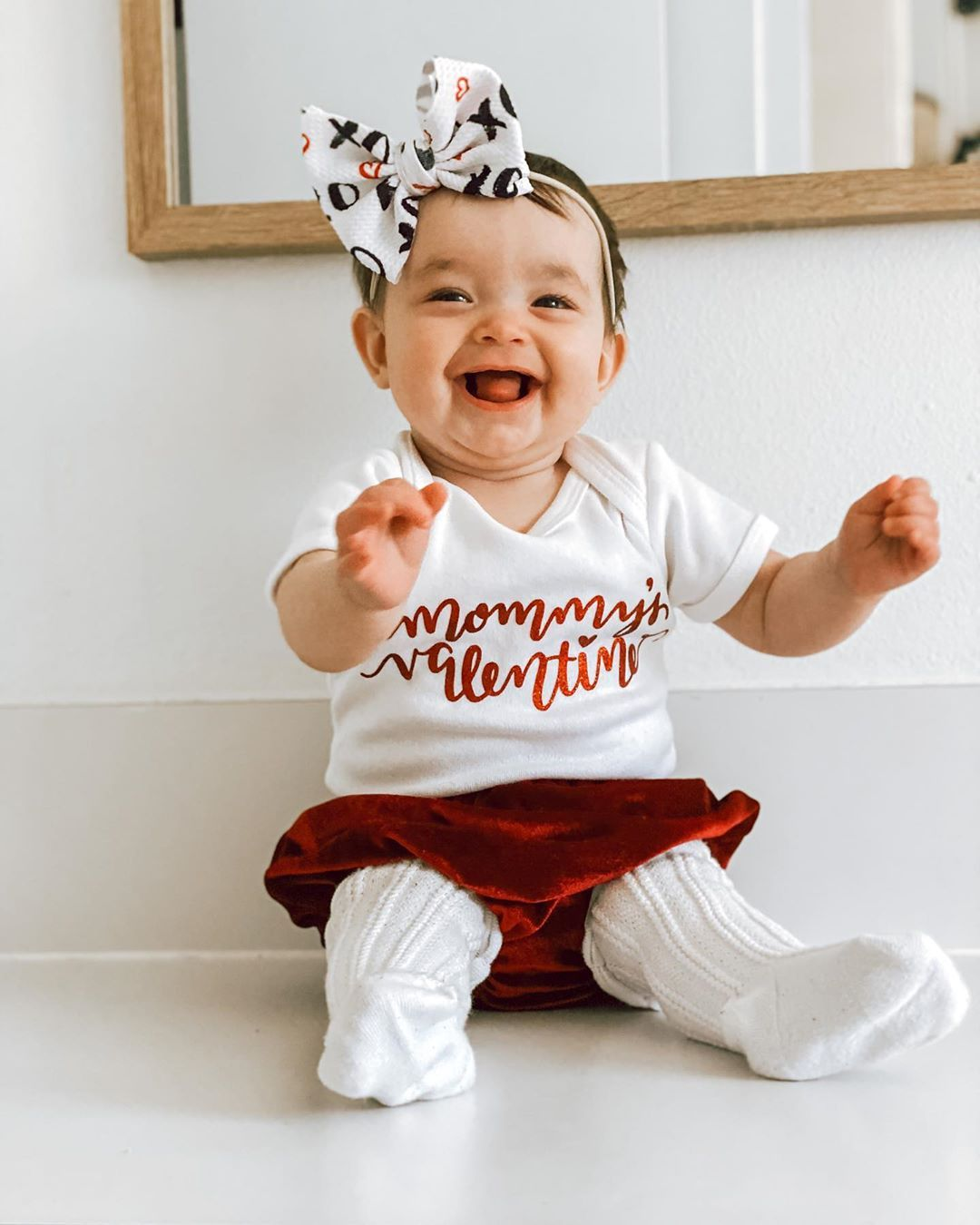 "Angelina Marie🌿 on Instagram: ""Mommy's Valentine!❤️ • • • #valentines #baby #littlebit #babygirl #esthergracemiracle #like #likelikelike #bows #mama #mommysgirl"""