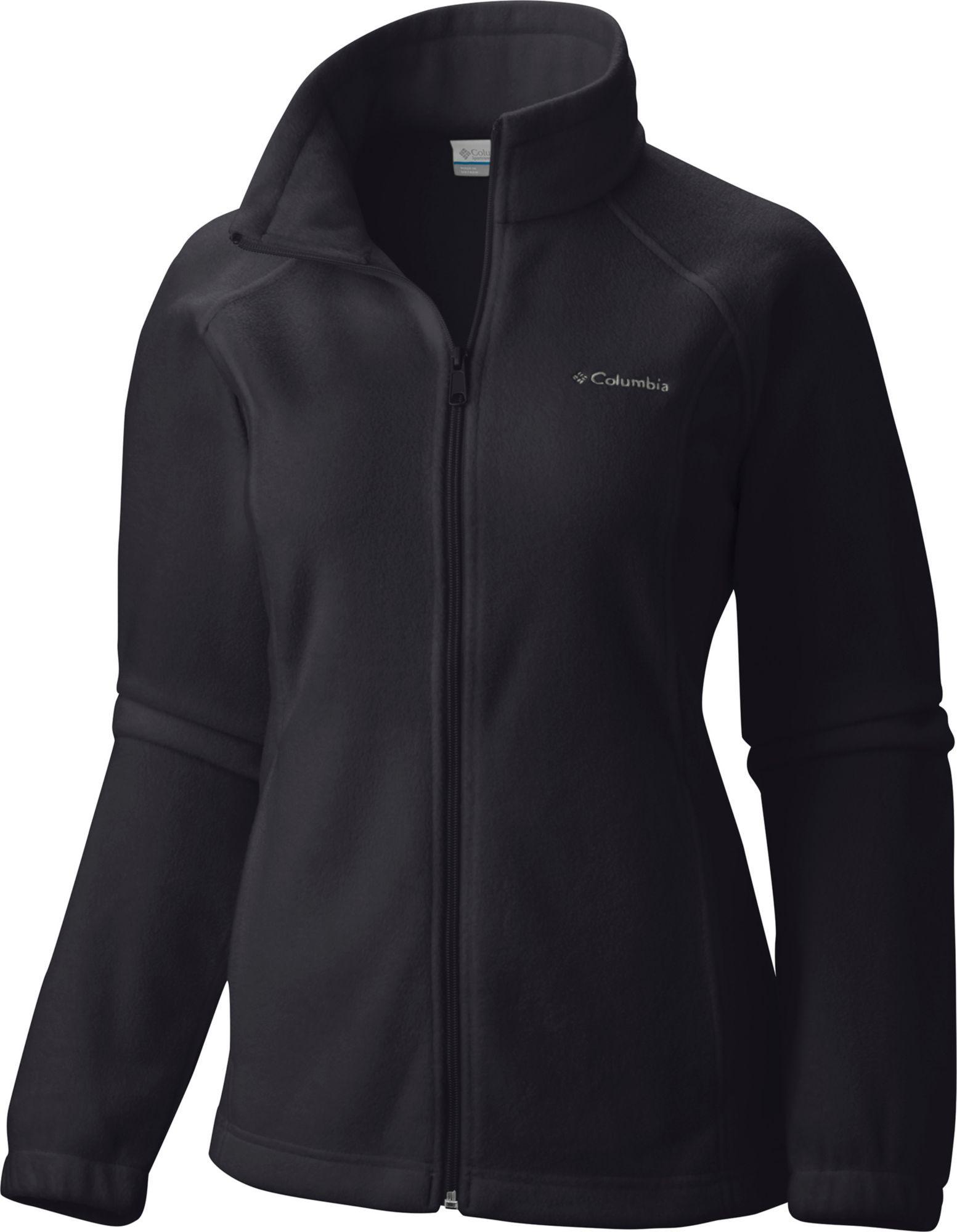02e12f428 Columbia Women's Benton Springs Full Zip Fleece Jacket, Size: Small, Black