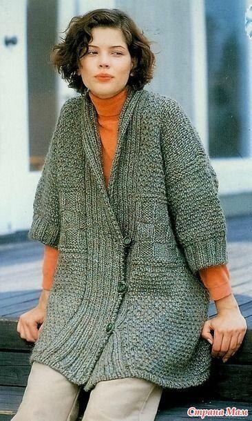 Вязаное пальто как альтернатива шитому. Красивая подборка ...