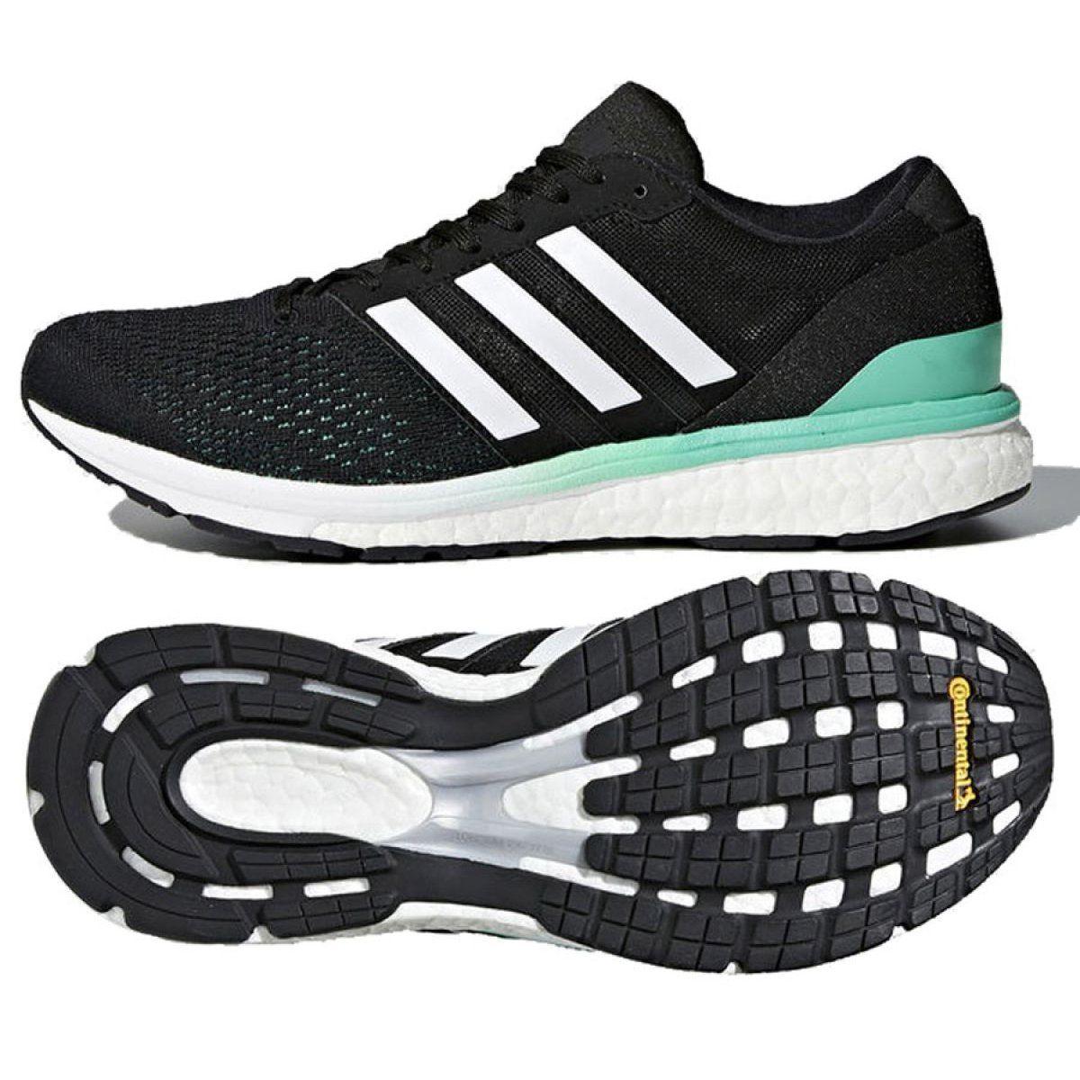 Buty Biegowe Adidas Boston 6 W Bb6421 Czarne Zielone Adidas Running Shoes Black Running Shoes Running Shoes
