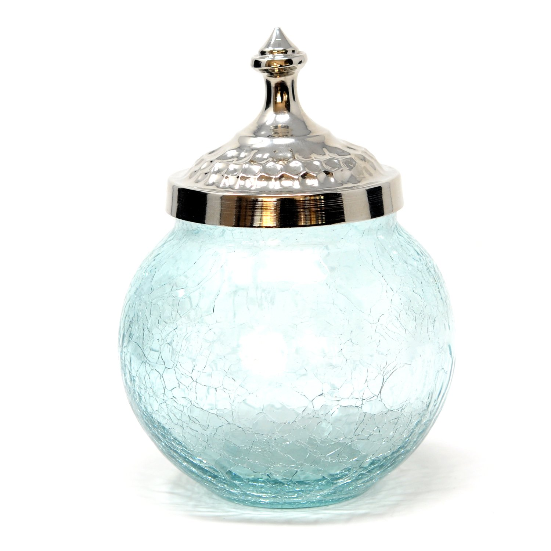 Crackle Glass Sugar Bowl Crackle glass, Glass, Sugar bowl