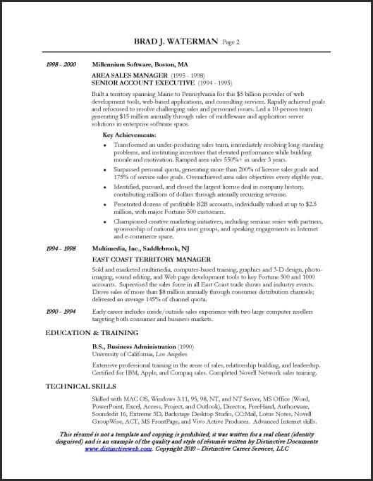 sales-example-resume_Page_2 Language Pinterest Executive - sample resume sales executive