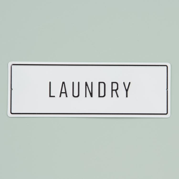 Embossed Metal Laundry Sign #laundrysigns