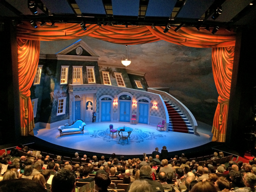 Birmingham Rep stage set for Moliere's Tartuffe. Blog post -- Voices without bodies: