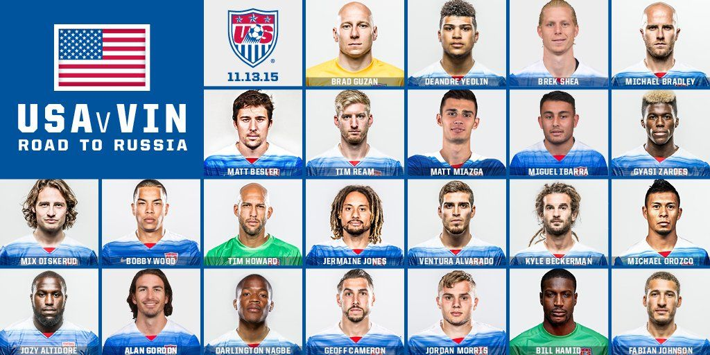 Usmnt Roster Just Announced For Next Round Of World Cup 2018 Qualification Usa Soccer Women Soccer Gear Usa Soccer