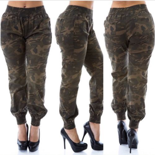 Details about Women\'s Camo Army Green Skinny Jeans ...