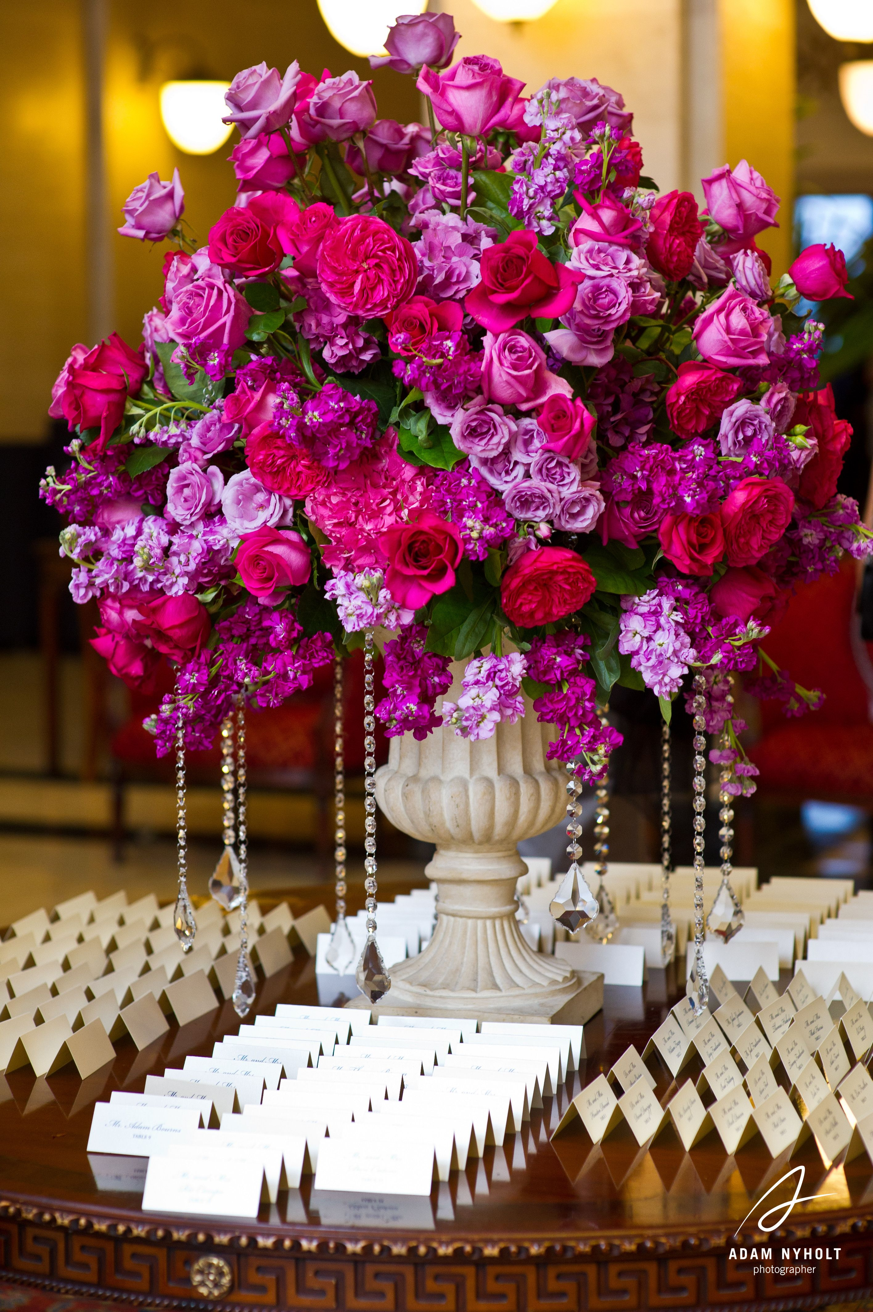 pink and purple centerpiece flowers photography by adam nyholt rh pinterest com Pink and Purple Wedding Centerpieces Pink and White Floral Centerpieces