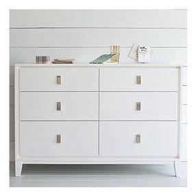 West Elm Niche 6 Drawer Dresser White