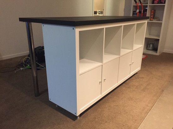 Cheap Stylish Ikea Designed Kitchen Island Bench For Under 300 Ikea Hackers Ilot Cuisine Detournement Meuble Ikea Rangement Cuisine