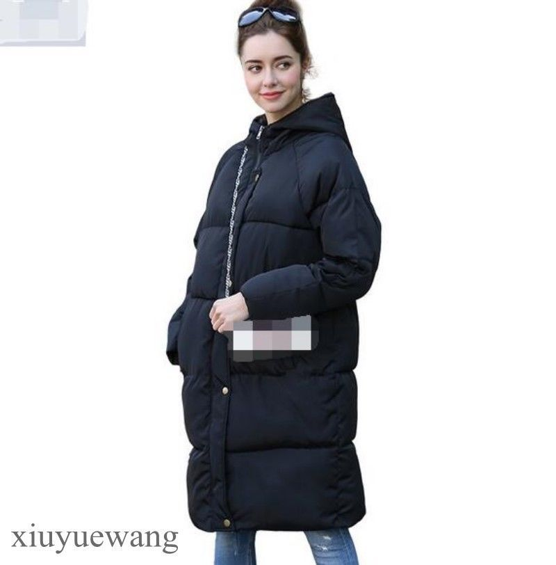 4a2fa15a79c ... Long Knee Length Parkas Female Cotton Jacket. Womens Cotton Blend  Hooded Jackets Coats Casual Outwear Padded Winter Warm Parka