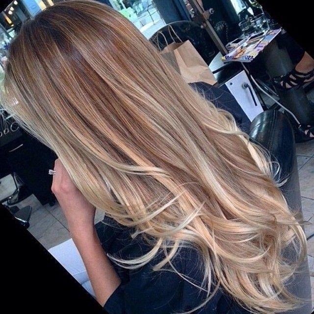 Frisuren lange haare blonde strahnen
